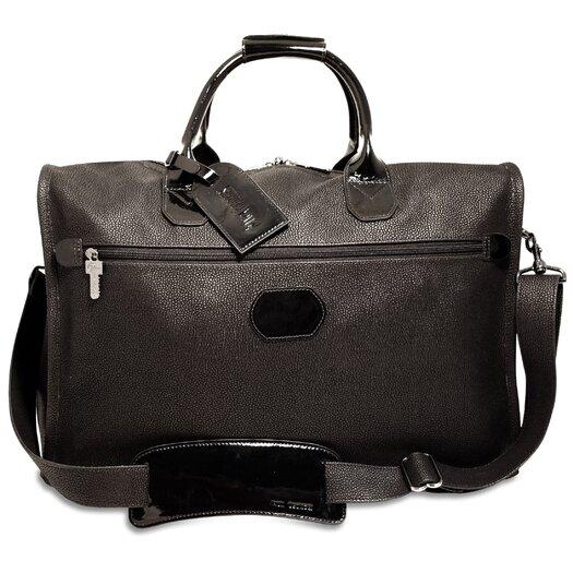"Jack Georges Nevada 18"" Patent Leather Weekender Duffel with 3 Way Zip"