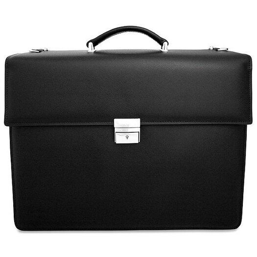Jack Georges Prestige Double Gusset Leather Briefcase