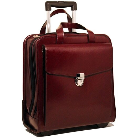 "Jack Georges Milano 15.5"" Vertical Laptop Case with Wheels"