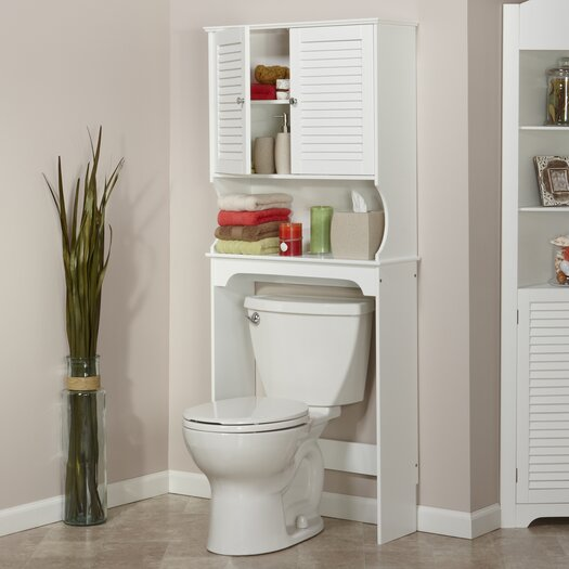 "RiverRidge Home Products Ellsworth 27.36"" x 63.75"" Over the Toilet Cabinet"