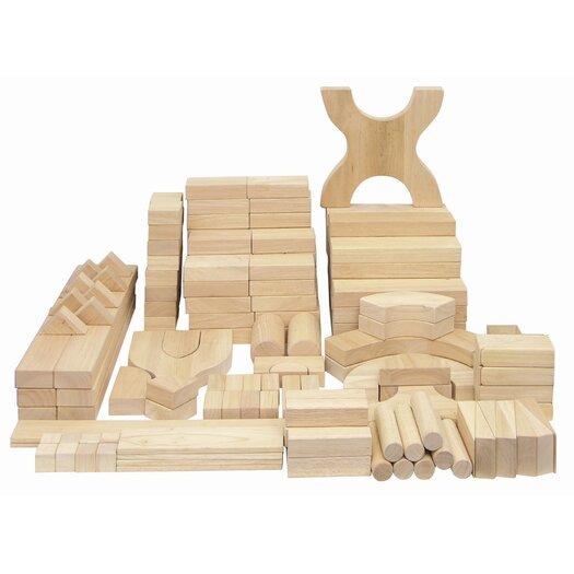 ECR4kids 170 Piece Hardwood Building Block Set