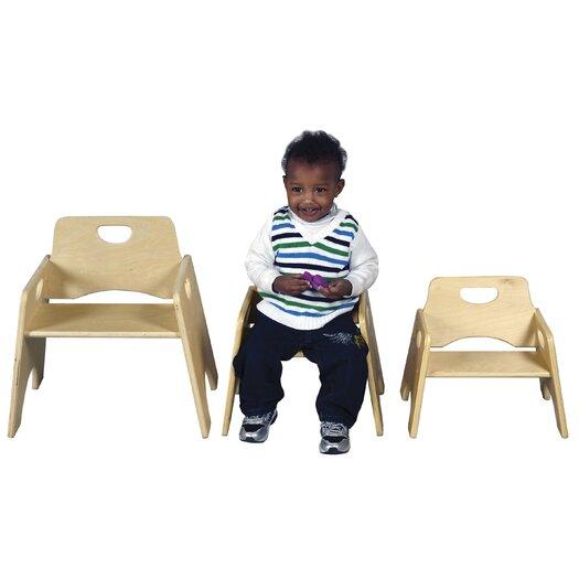 "ECR4kids 8"" Wood Classroom Chair"
