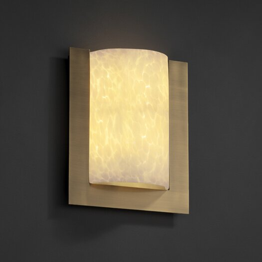 Justice Design Group Framed Fusion Rectangular 3-Sided 2 Light Wall Sconce