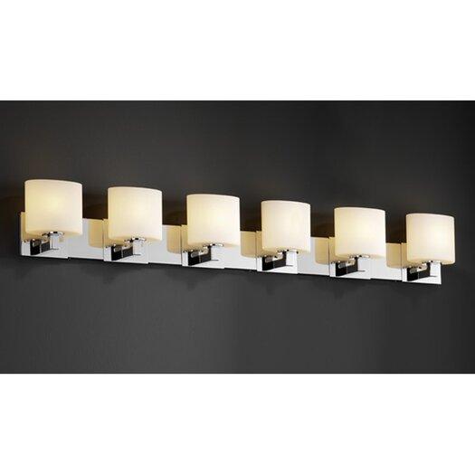 Justice Design Group Fusion Modular 6 Light Bath Vanity Light