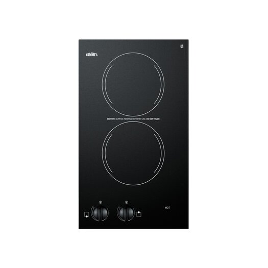 """Summit Appliance 12"""" Electric Cooktop with 2 Burners"""