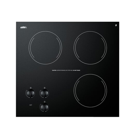 "Summit Appliance 20.63"" Electric Cooktop with 3 Burners"