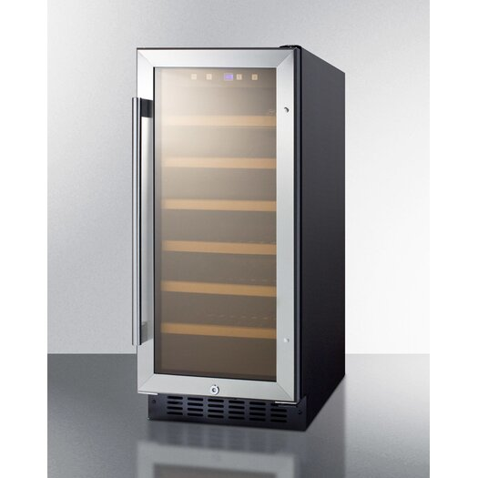 Summit Appliance 33 Bottle Single Zone Convertible Wine Refrigerator