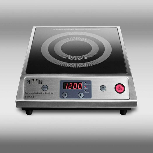 "Summit Appliance 12.63"" Electric Induction Cooktop with 1 Burner"