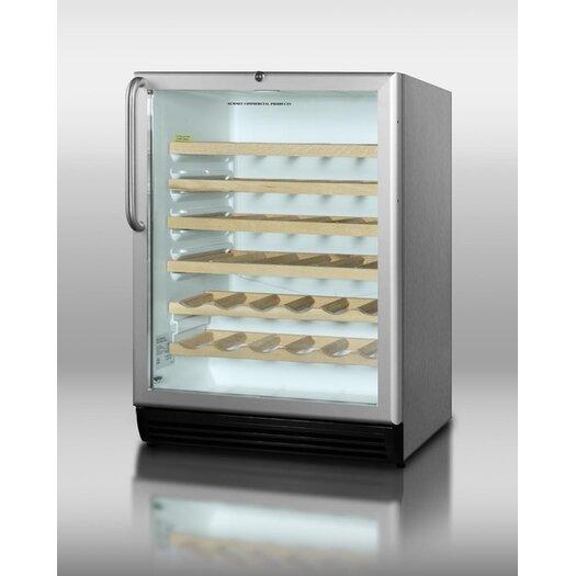 Summit Appliance 40 Bottle Single Zone Built-In Wine Refrigerator