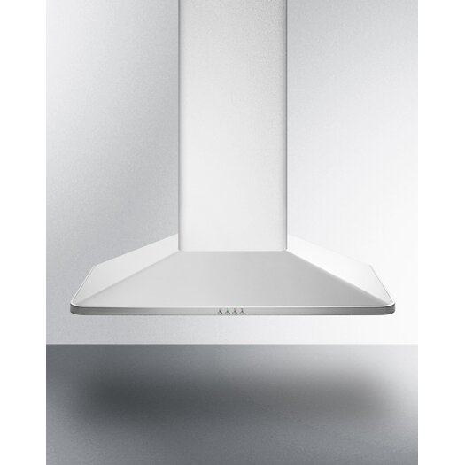 "Summit Appliance 35.38"" 650 CFM Convertible Wall Mount Range Hood"