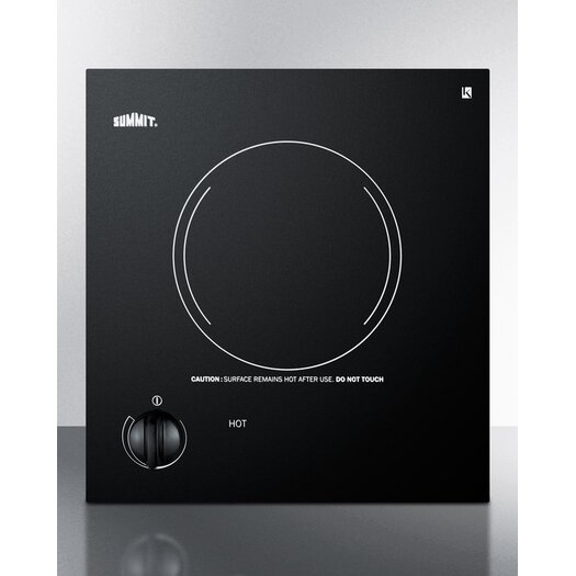 """Summit Appliance 12"""" Electric Cooktop with 1 Burner"""