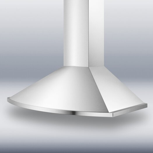 "Summit Appliance 35.38"" 500 CFM Convertible Wall Mount Range Hood in Stainless Steel"