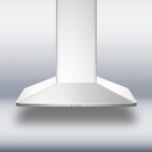 "Summit Appliance 29.63"" 650 CFM Convertible Wall Mount Range Hood in Stainless Steel"