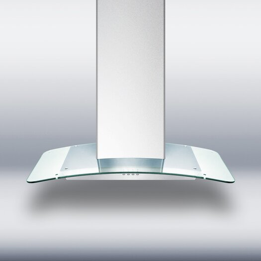 "Summit Appliance 35.38"" 650 CFM Convertible Wall Mount Range Hood in Stainless Steel"