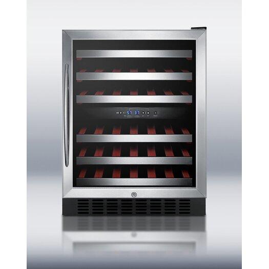 Summit Appliance 46 Bottle Dual Zone Built-In Wine Refrigerator