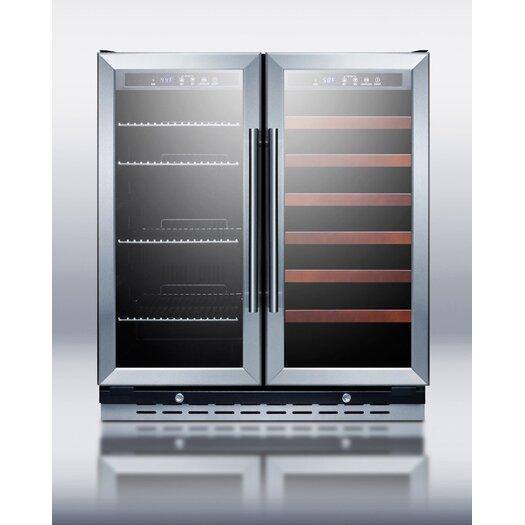 Summit Appliance Dual Zone Built-In Wine Refrigerator