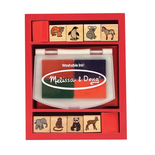 Melissa & Doug Baby Zoo Animals Stamp Set Arts & Crafts Kit