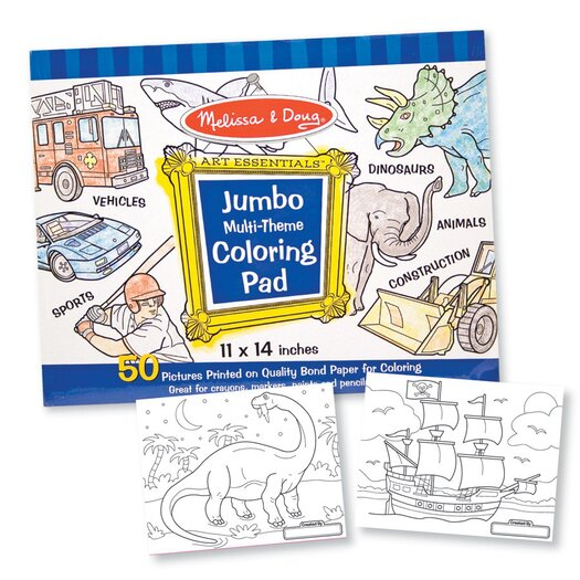 Melissa & Doug Jumbo Coloring Pad in Blue