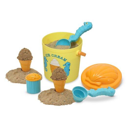 Melissa & Doug Speck Seahorse 7 Piece Sand Ice Cream Set