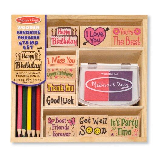 Melissa & Doug Favorite Phrases Stamp Set