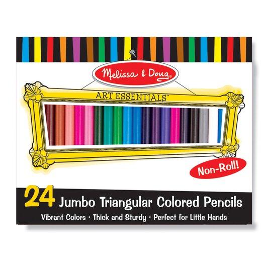 Melissa & Doug Jumbo Triangular Colored Pencils, 24 Pack