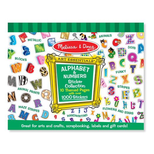 Melissa & Doug Sticker Collection Alphabet and Numbers