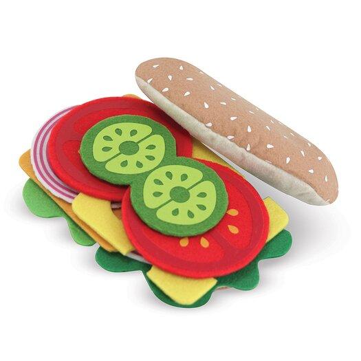 Melissa & Doug 33-Piece Felt Food Sandwich Set