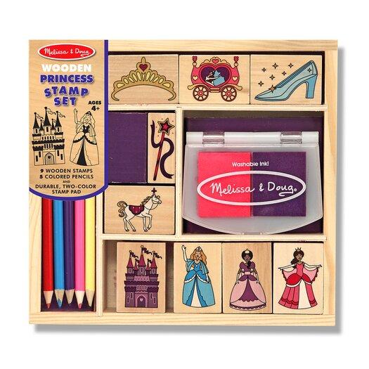 Melissa & Doug Wooden Princess Stamp Set