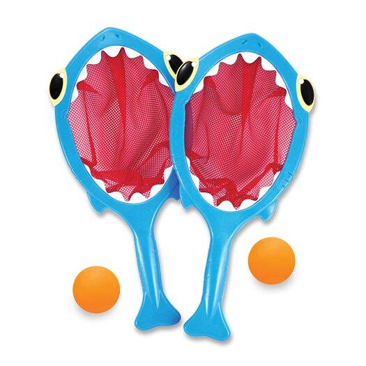 Melissa & Doug 4 Piece Spark Shark Toss and Catch Pool Game