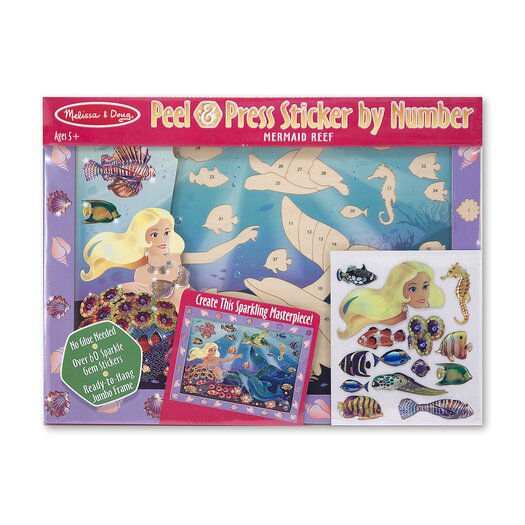 Melissa & Doug Mermaid Reef Peel and Press Sticker by Number