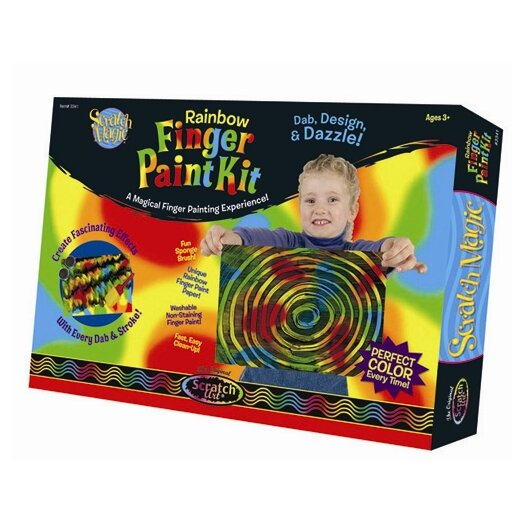 Melissa & Doug Deluxe Rainbow Finger-Paint Art Set