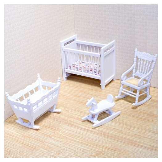 Melissa & Doug Dollhouse Nursery Furniture