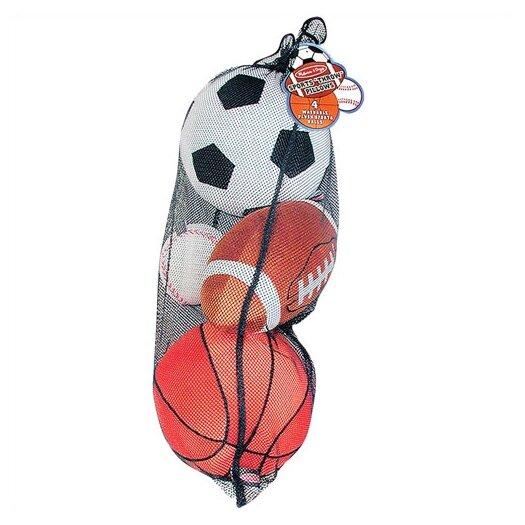Melissa & Doug Plush Sports Balls in a Mesh Bag