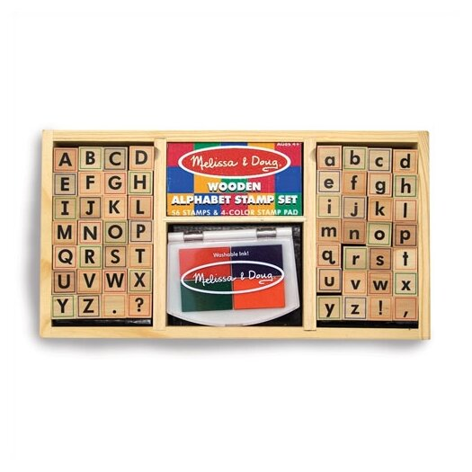 Melissa & Doug Alphabet Stamp Set Arts & Crafts Kit