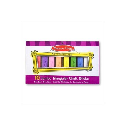 Melissa & Doug 10 Jumbo Triangular Chalk Sticks