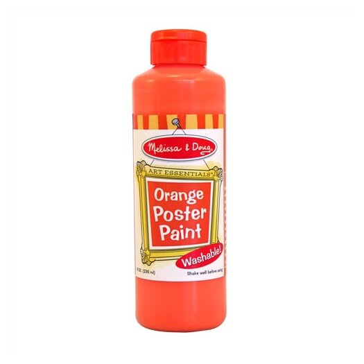 Melissa & Doug Orange Poster Paint Bottle