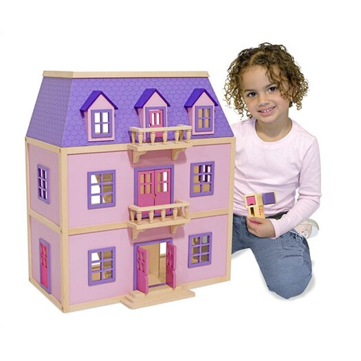 Melissa & Doug Wood Furnished Mansion