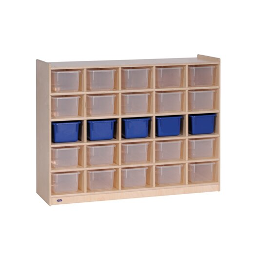 Steffy Wood Products Mobile 25 Compartment Cubby
