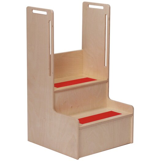 """Steffy Wood Products 2-Step 11-Ply Birch Veneer Plywood """"I Can Reach"""" Handy Children's Step Stool"""