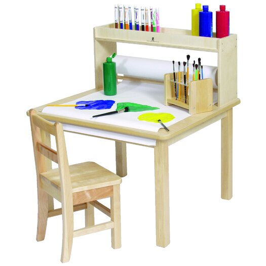 Steffy Wood Products Creativity Table with Paper Roll