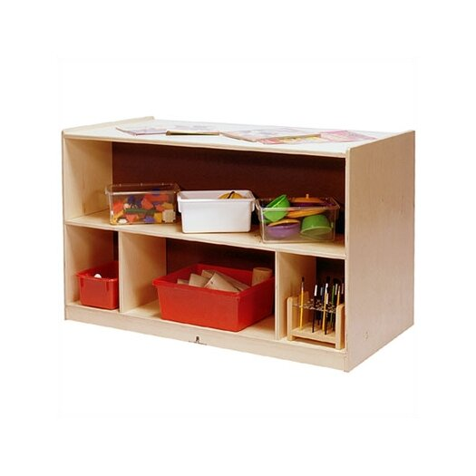 Steffy Wood Products Toddler Double-Sided Storage Cabinet