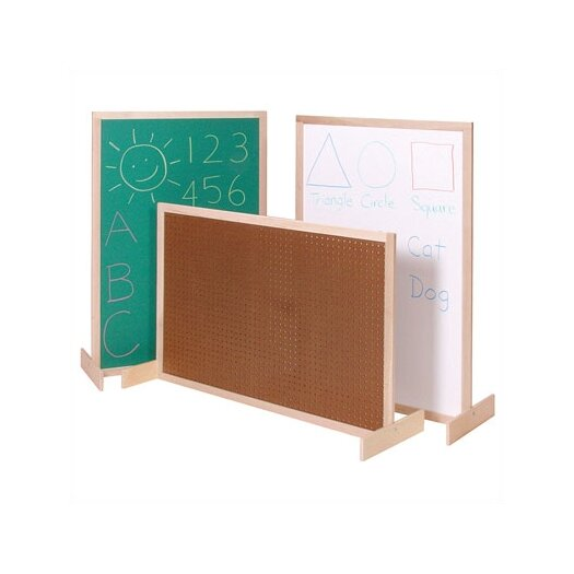 Steffy Wood Products Two-Position Room Divider Bulletin Board, 3' x 4'
