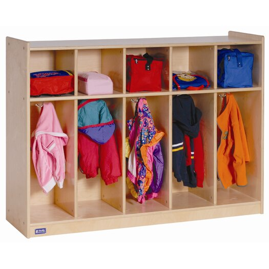 Steffy Wood Products 1 Tier 5-Section Toddler Locker