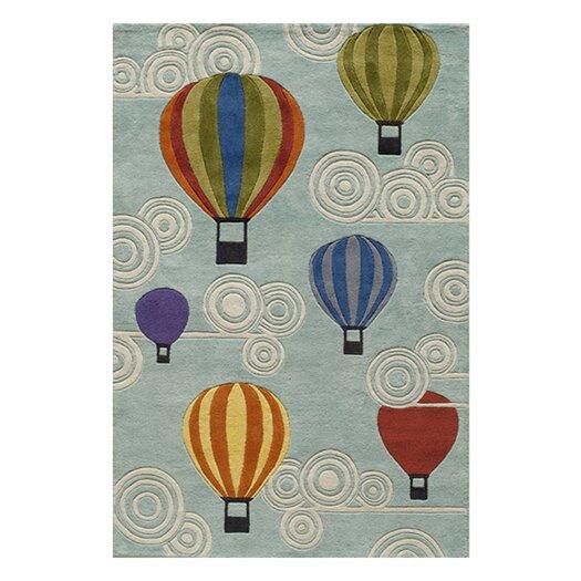 Momeni Lil' Mo Lil Mo Whimsy Hot Air Balloons Kids Area Rug