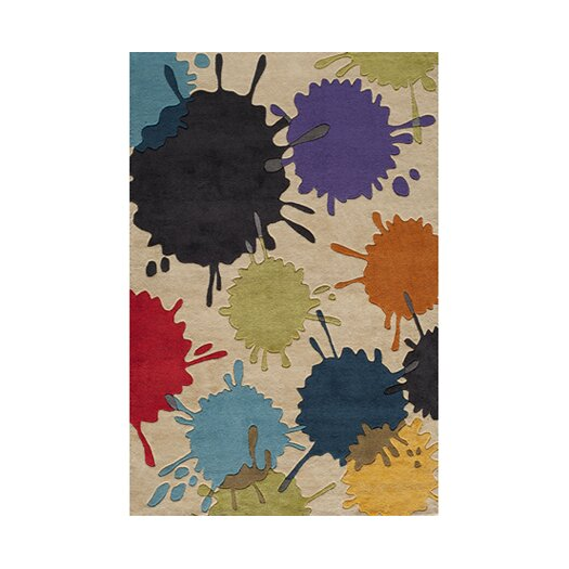 Momeni Lil' Mo Lil Mo Hipster Ivory Sport Kids Area Rug