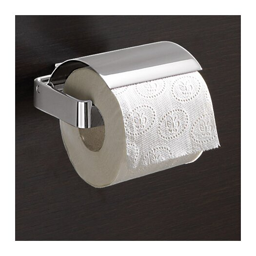 Gedy by Nameeks Lounge Wall Mounted Toilet Paper Holder with Cover