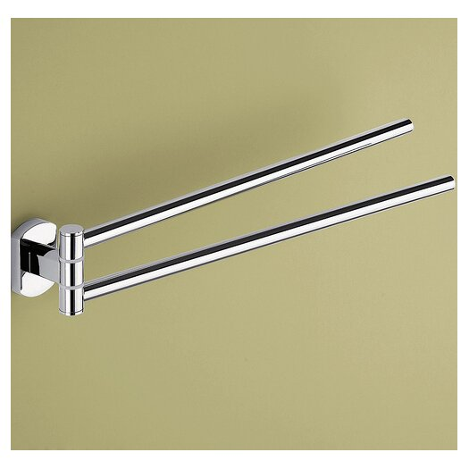 Gedy by Nameeks Edera Wall Mounted Jointed Double Towel Bar