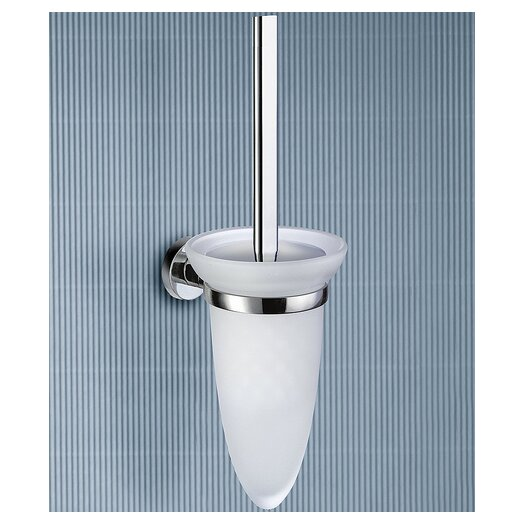 Gedy by Nameeks Demetra Wall Mounted Toilet Brush Holder in Chrome