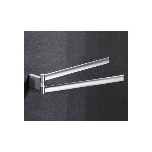 Gedy by Nameeks Kent Wall Mounted Swivel Double Towel Bar