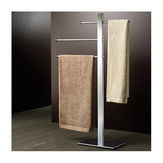 Gedy by Nameeks Bridge Free Standing Sliding 3-Tier Towel Stand
